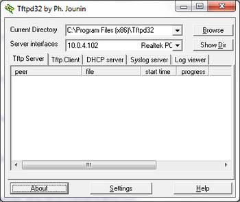 Installing TFTP server - Installing TFTP server