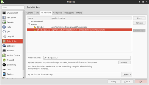 Configuring Qt Creator - Configuring Qt Creator